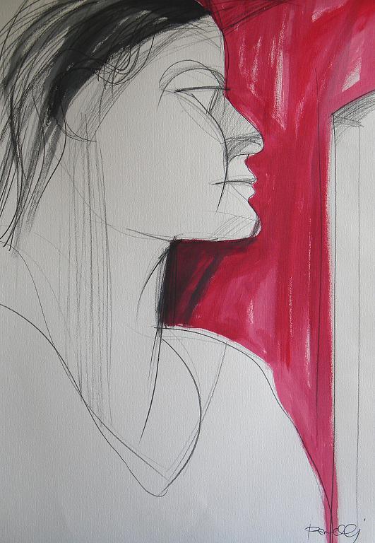 Ritratto di ragazza - Gabriele Donelli - Matita e acrilico - 300 €