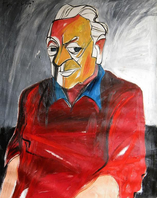 Ritratto di Renato Guttuso - Gabriele Donelli - Olio - 1200 €