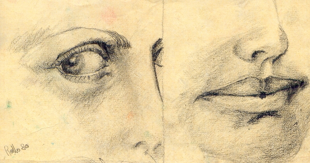 occhio-bocca - daniele Rallo  - matita - 20 €