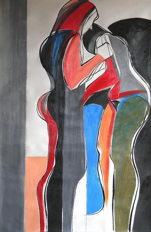 Due donne in spiaggia - Gabriele Donelli - Olio - 600 €