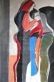 Due donne in spiaggia - Gabriele Donelli - Olio - 600€