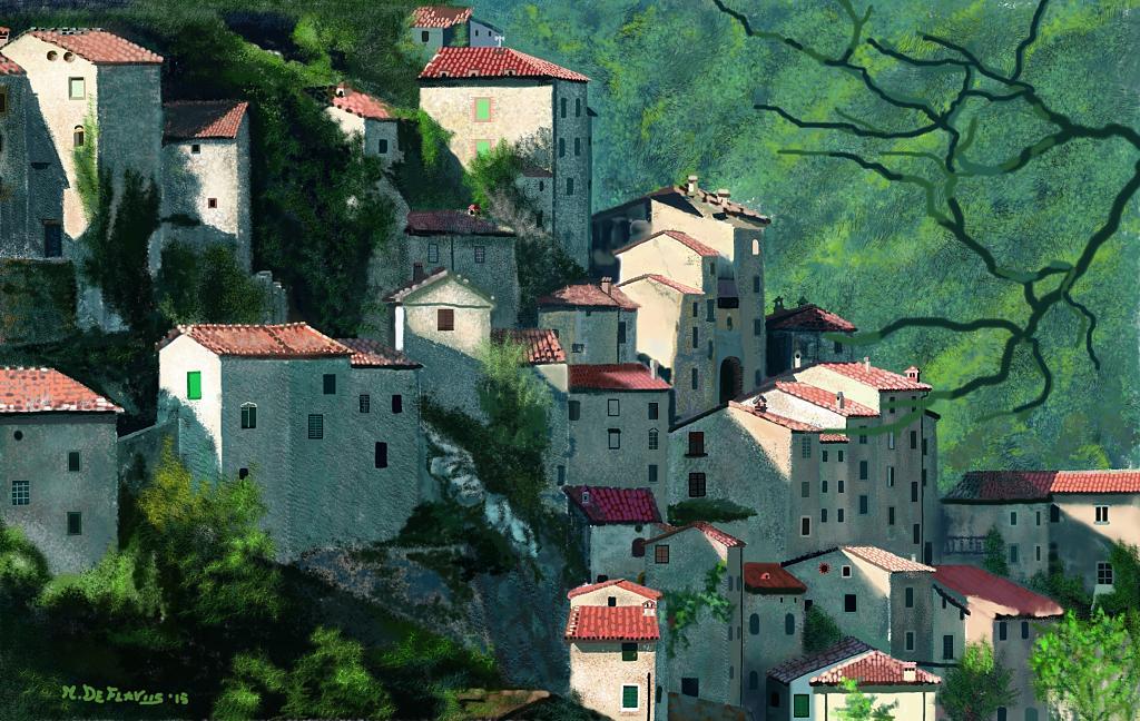 Lucchio (Garfagnana-Toscana) - Michele De Flaviis - Digital Art