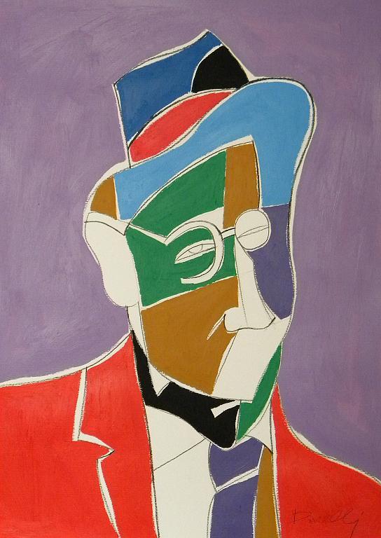 Ritratto di James Joyce - Gabriele Donelli - Acrilico - 300 €