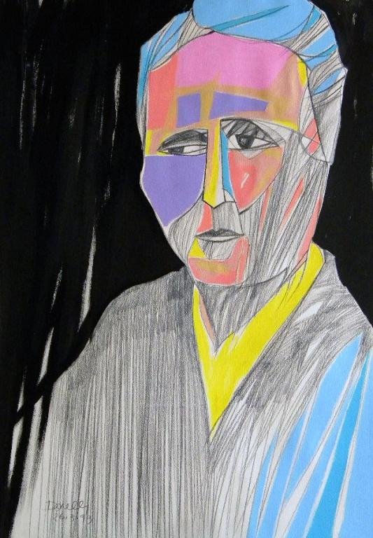 Ritratto di Gertrude Stein - Gabriele Donelli - Matita e acrilico - 400 €