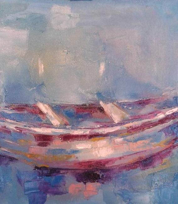 La barca - Silvia Tschauschev - Olio - 150 €