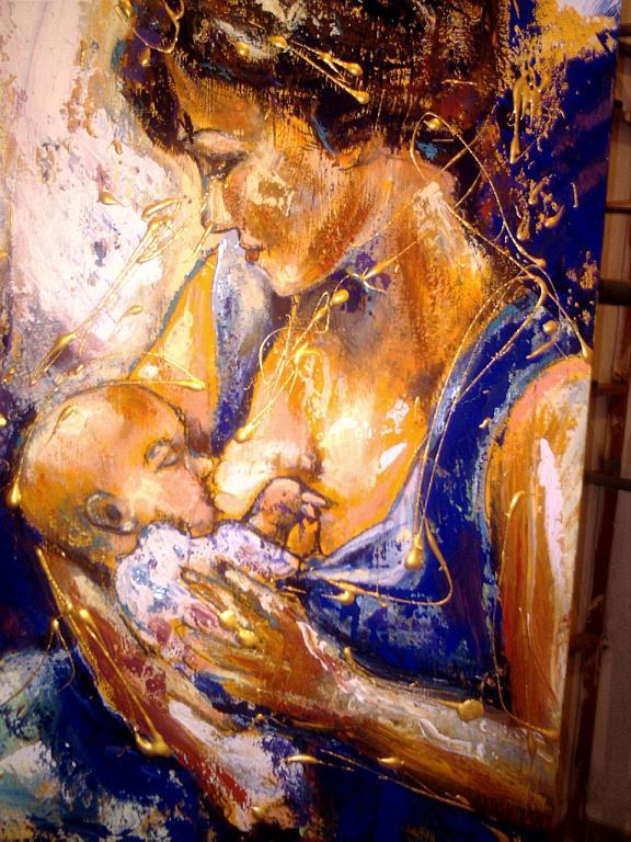 Maternità - tiziana marra - Olio