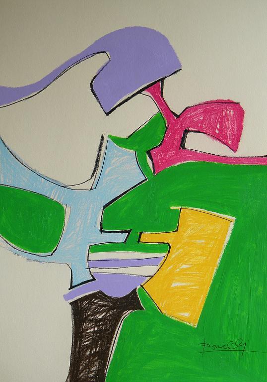 Nei giardini dell'infanzia - Gabriele Donelli - Pastello e acrilico - 300 €