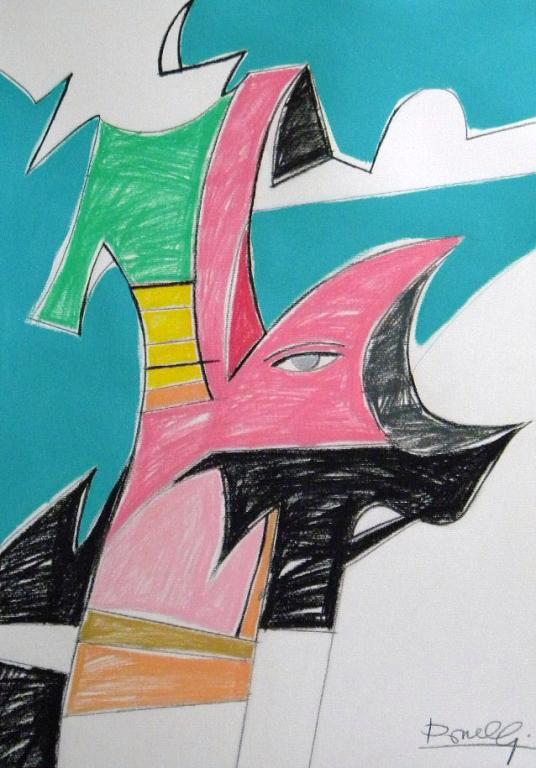 Composizione surreale - Gabriele Donelli - Pastello e acrilico - 600 €