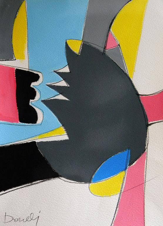 Figurazione strana con aspetti asiatici - Gabriele Donelli - Acrilico - 250 €