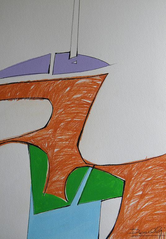 Barche in riva al lago - Gabriele Donelli - Pastello e acrilico - 300 €