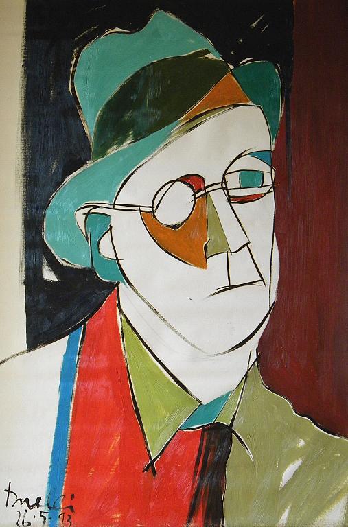 Ritratto di James Joyce - Gabriele Donelli - Olio - 400 €