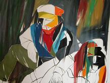 Composizione per il racconto Solitudine di Gabriele Donelli - Gabriele Donelli - Olio - 800€