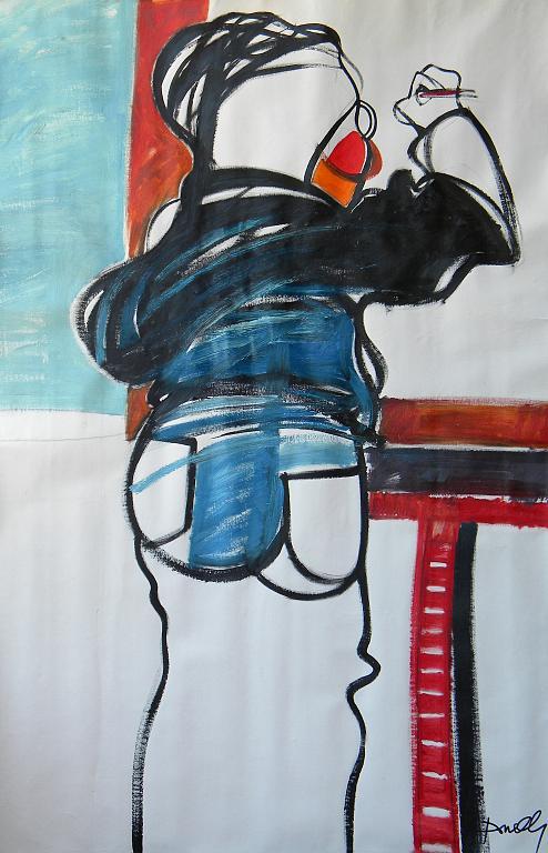 La pittrice - Gabriele Donelli - Olio - 300 €
