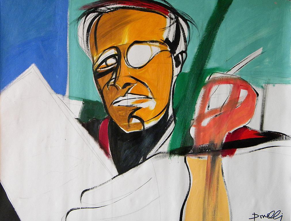 Ritratto di Truman Capote - Gabriele Donelli - Olio - 600 €