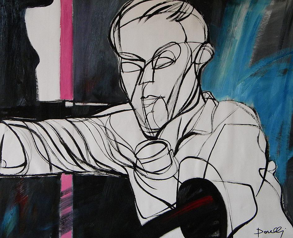 Ritratto di Piero Manzoni - Gabriele Donelli - Olio - 600 €