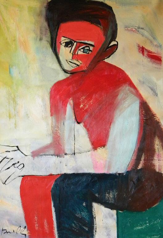 Ritratto di Egon Schiele - Gabriele Donelli - Olio - 1400 €