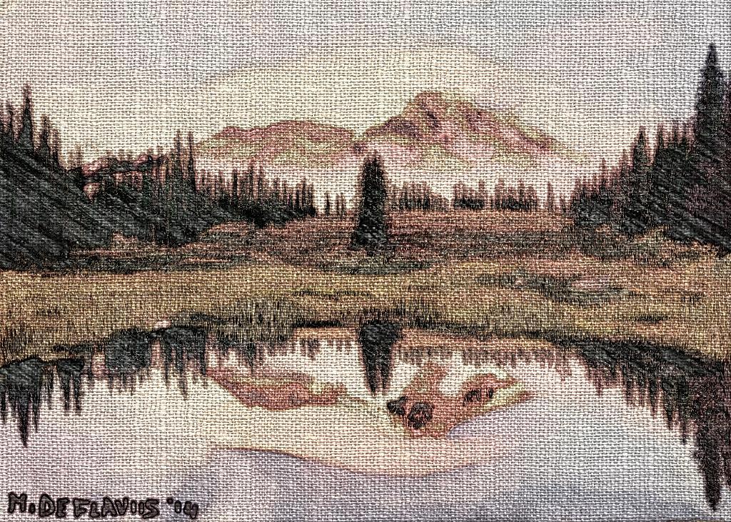 Laghetto di montagna2 - Michele De Flaviis - Digital Art