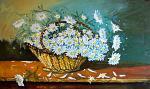 Margherite bianche - Pietro Dell Aversana - Olio - 430 €