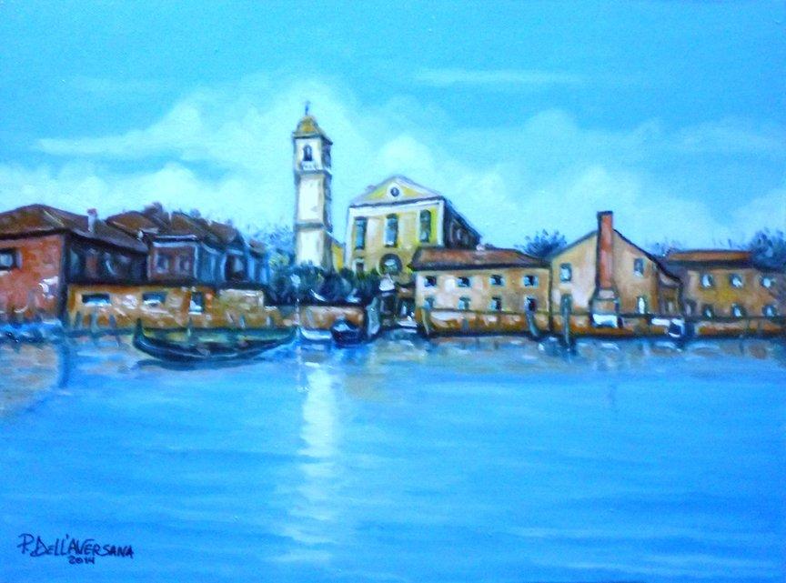 Isola di Murano - Pietro Dell Aversana - Olio - 100 €