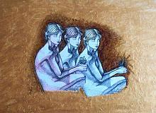 Studio per nudo femminile - Pietro Dell Aversana - Olio - 120€