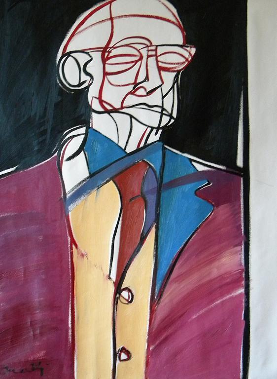Ritratto di Carlo Mattioli - Gabriele Donelli - Olio - 400 €