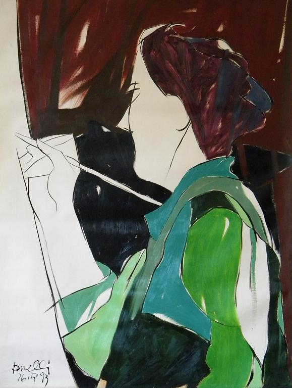 La pittrice - Gabriele Donelli - Olio - 400 €