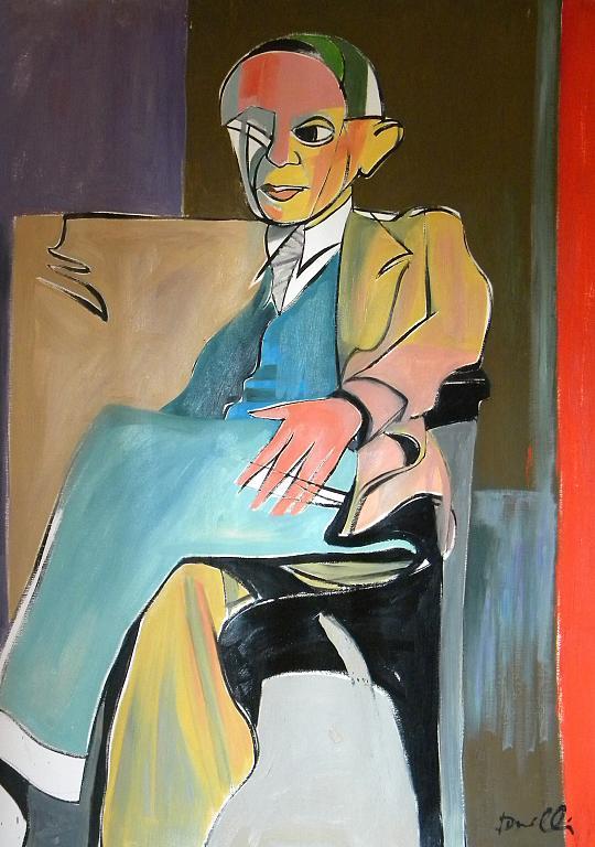 Ritratto di Pablo Picasso - Gabriele Donelli - Olio -  €
