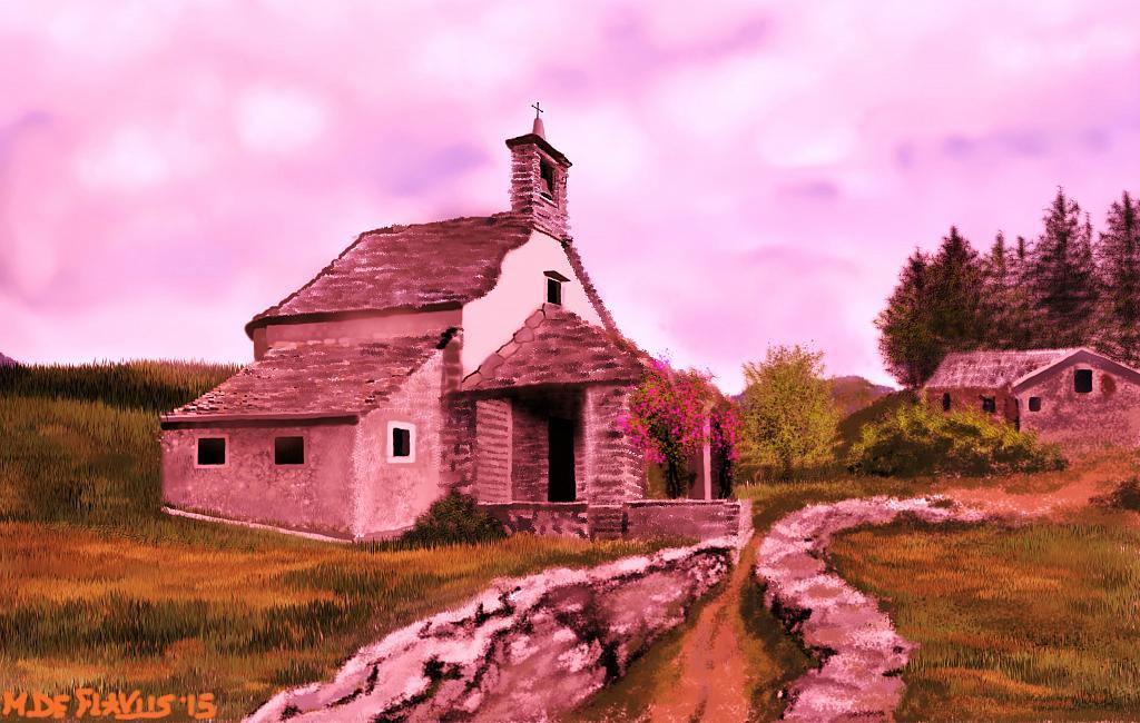 Chiesetta di montagna2 - Michele De Flaviis - Digital Art