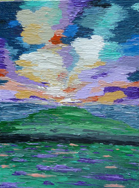 Abstract Lavander Landscape - Daniela Pasqualini - Acrilico
