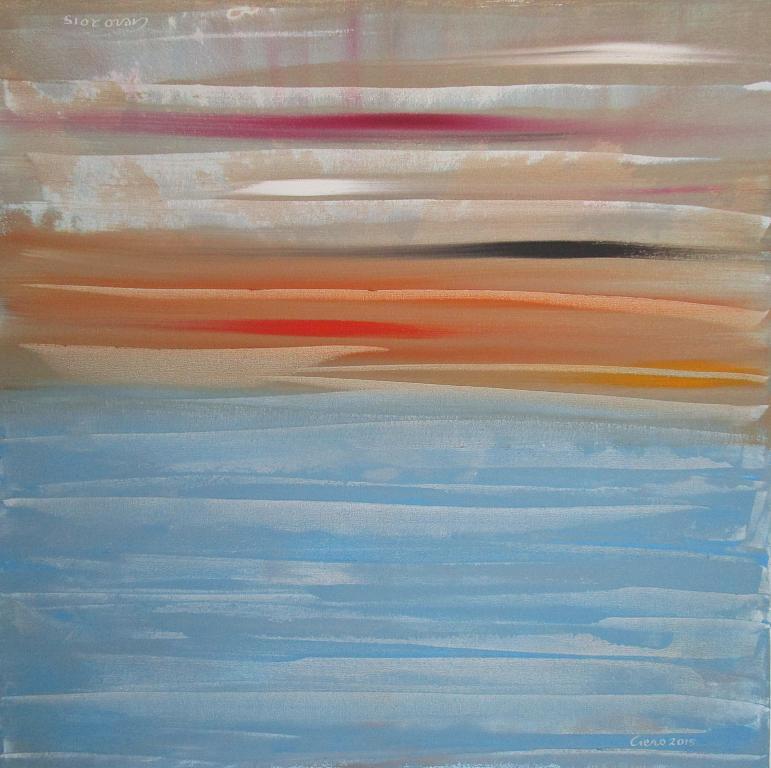 Tramonto sul mare e Nel deserto dell'apparenza - Girolamo Peralta - Acrilico - 370 €