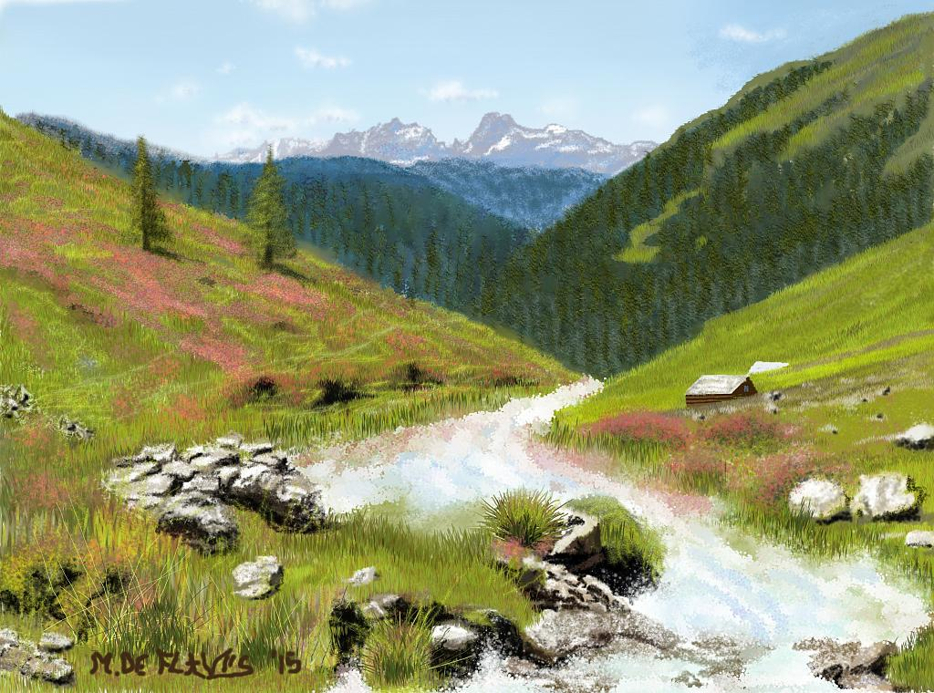 Torrente alpino - Michele De Flaviis - Digital Art