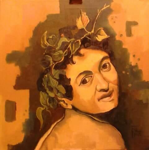 In omaggio a Caravaggio - Silvia Tschauschev - Olio - 150 €