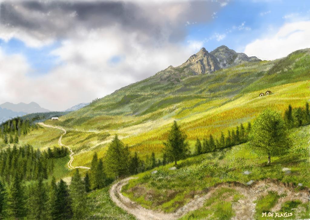Montagne - Michele De Flaviis - Digital Art