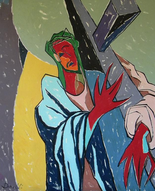 Cristo che porta la croce - Gabriele Donelli - Olio - 400 €