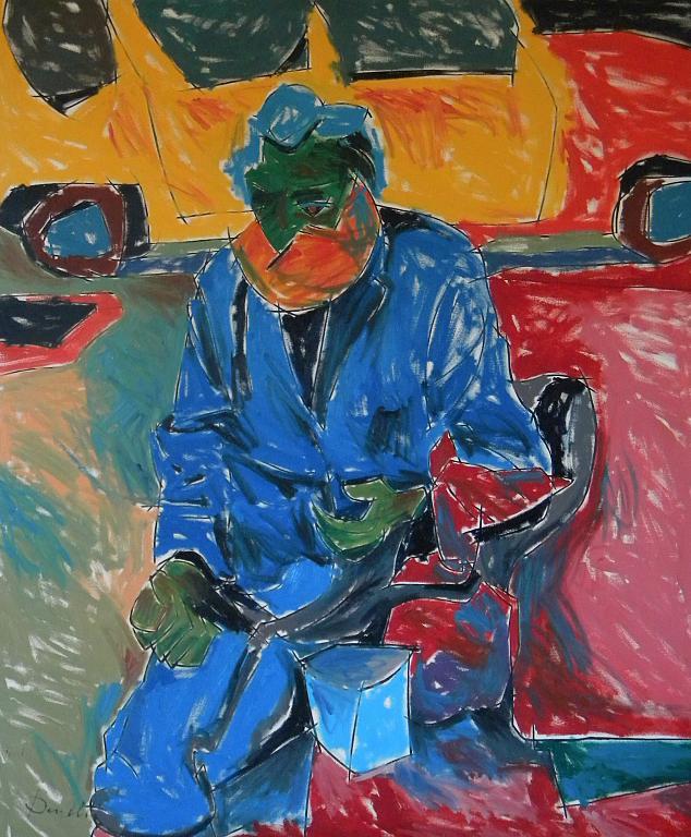 Ritratto di un barbone - Gabriele Donelli - Olio - 600 €