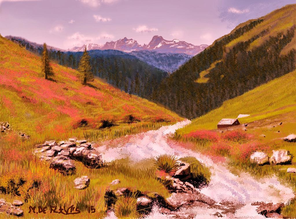 Torrente alpino2 - Michele De Flaviis - Digital Art