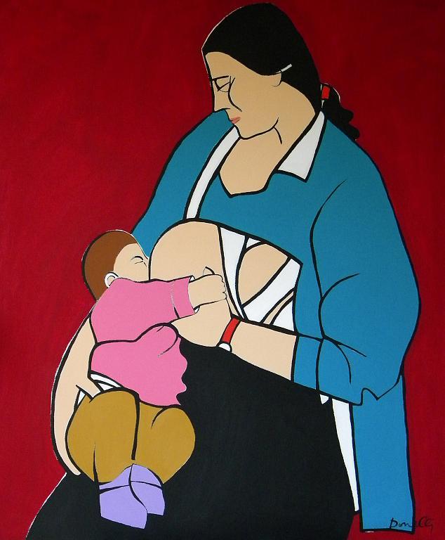 Maternità - Gabriele Donelli - Acrilico - 600 €