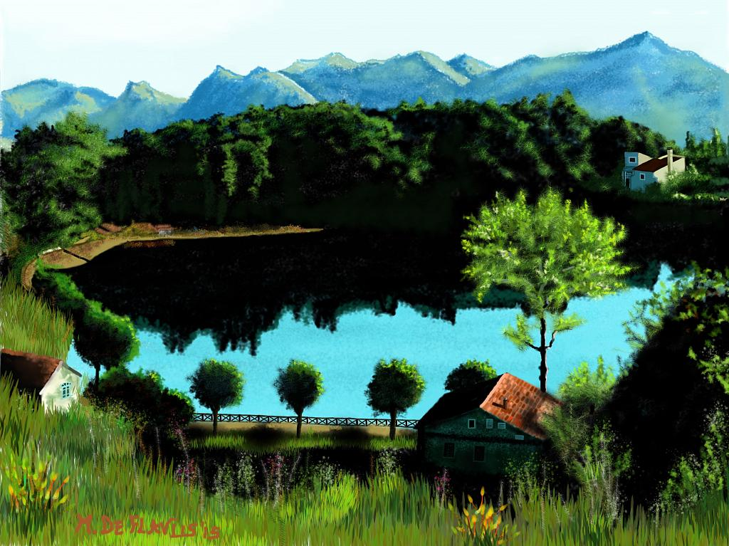 Lago lucano - Michele De Flaviis - Digital Art