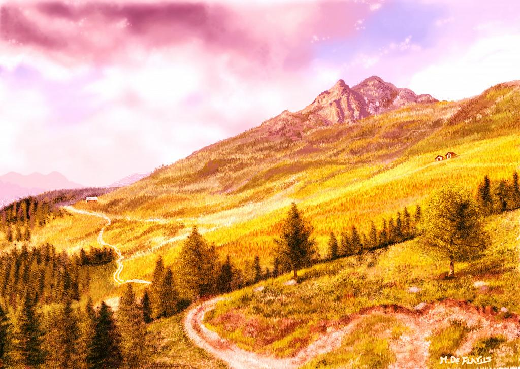 Montagne (2) - Michele De Flaviis - Digital Art
