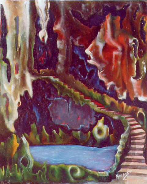 lago in grotta - daniele rallo - Olio -  €