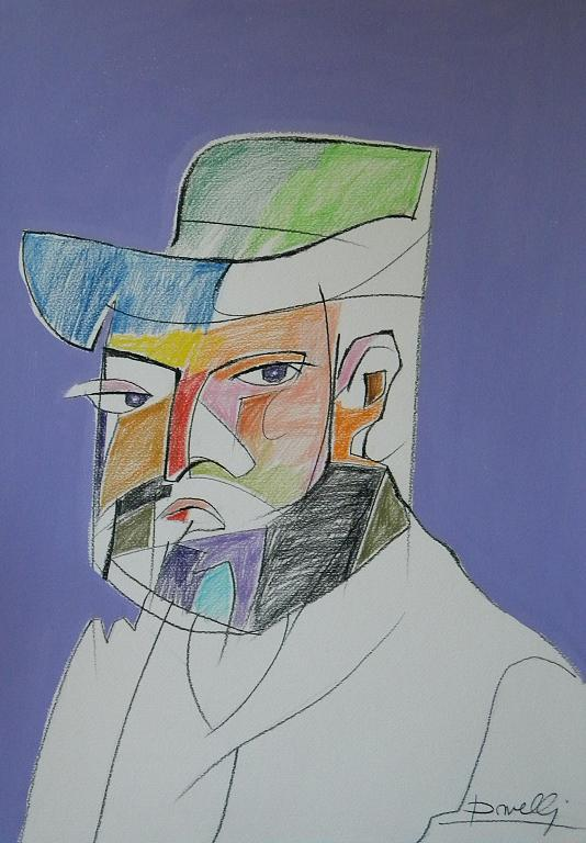 Ritratto di Paul Cezanne - Gabriele Donelli - Pastello e acrilico - 500 €