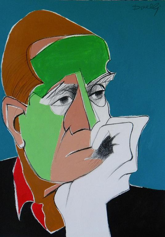 Ritratto di Alberto Moravia - Gabriele Donelli - Acrilico - 700 €