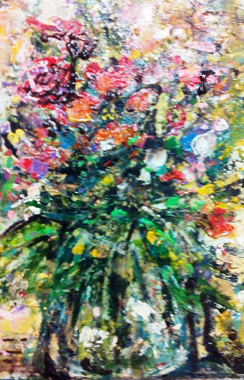 piccolo vaso con fiori di campo - tiziana marra - tecnica mista - 80,00 €