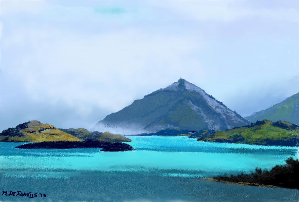 Lago nordico - Michele De Flaviis - Digital Art