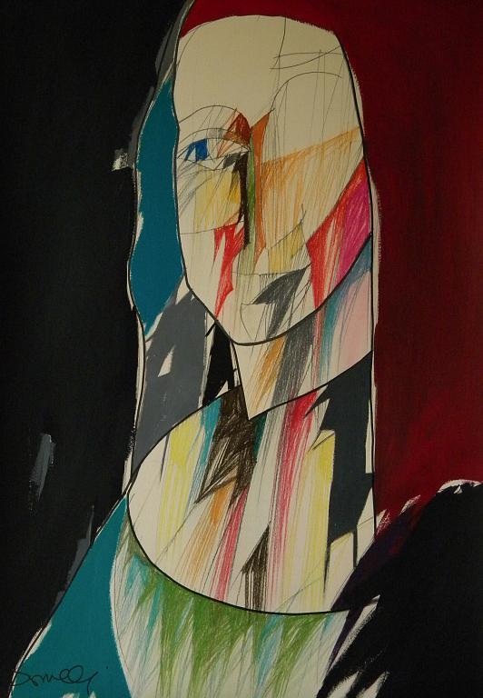 Ritratto di Monna Lisa - Gabriele Donelli - Pastello e acrilico - 700 €