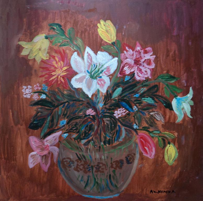 Vaso di fiori vendita quadro pittura artlynow for Vasi di fiori dipinti