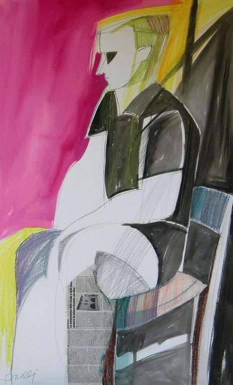 Autoritratto - Gabriele Donelli - Pastello e acrilico - 300 €