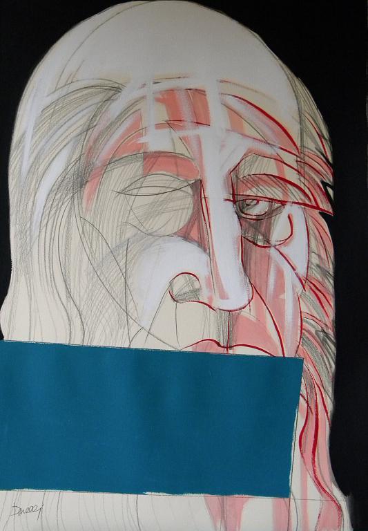 Ritratto di Leonardo da Vinci - Gabriele Donelli - Matita e acrilico - 700 €