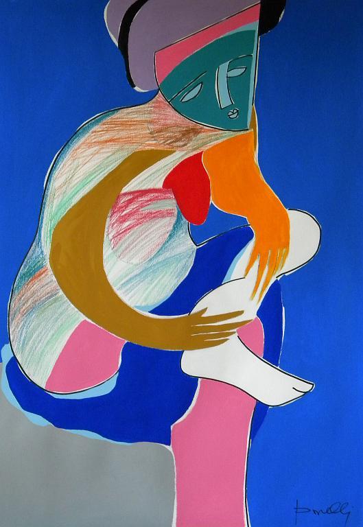 Bagnante che si asciuga - Gabriele Donelli - Pastello e acrilico - 700 €