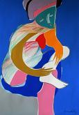 Bagnante che si asciuga - Gabriele Donelli - Pastello e acrilico - 300€